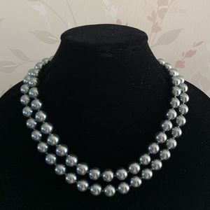 Talbots Long Pearl Necklace